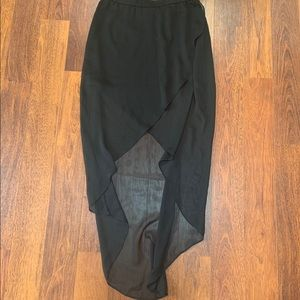 Express black high low maxi skirt